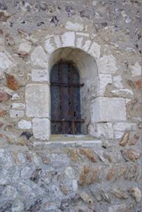 Mur Nord de l'église Saint Christophe - Baie Romane
