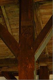 Charpente de l'église Saint Christophe - détail