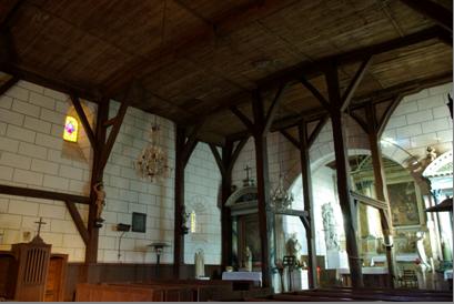 Charpente de l'église Saint Christophe - vue générale