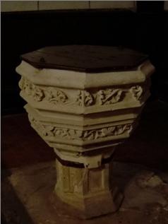 Fonts baptismaux de l'église Saint Christophe